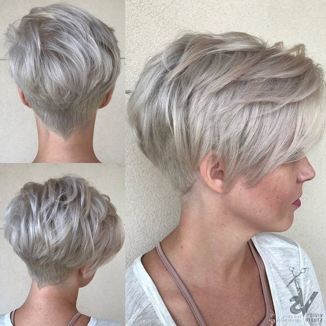 21+ Classy Short Haircuts & Hairstyles For Thick Hair – Sensod In Gray Pixie Hairstyles For Thick Hair (View 6 of 20)
