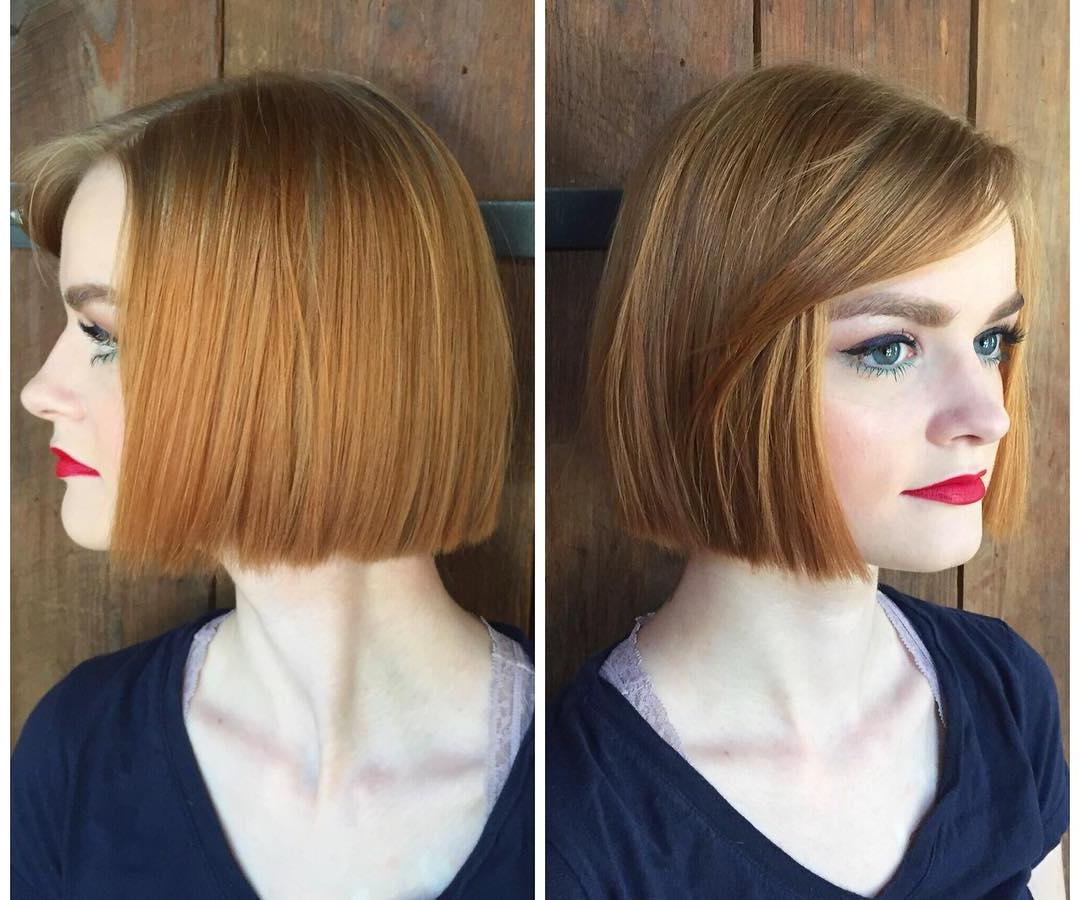 22 Stick Straight Bob Haircuts With Style 2018 | Hairstyle Guru For Straight Bob Hairstyles With Bangs (View 10 of 20)