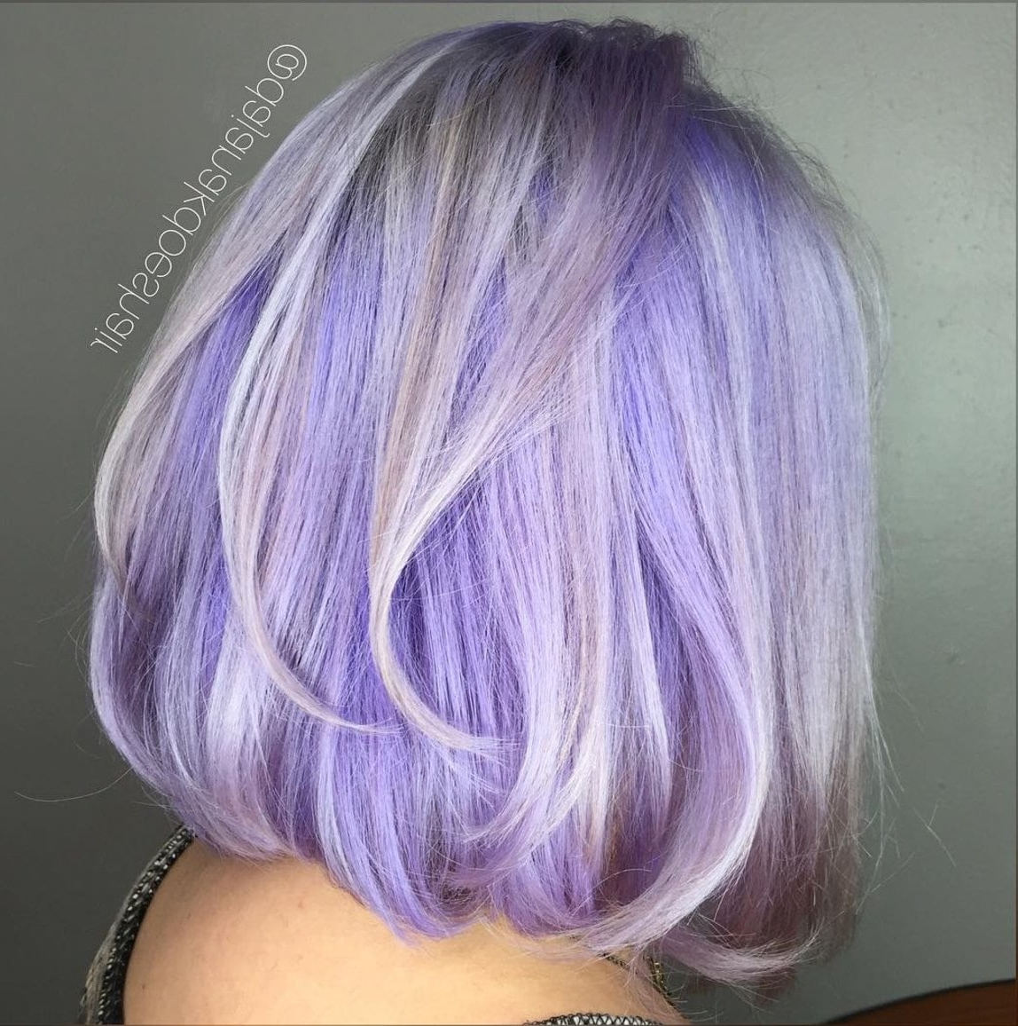 23 Of The Most Stunning Purple Hair Color Ideas Inside Silver Bob Hairstyles With Hint Of Purple (View 5 of 20)