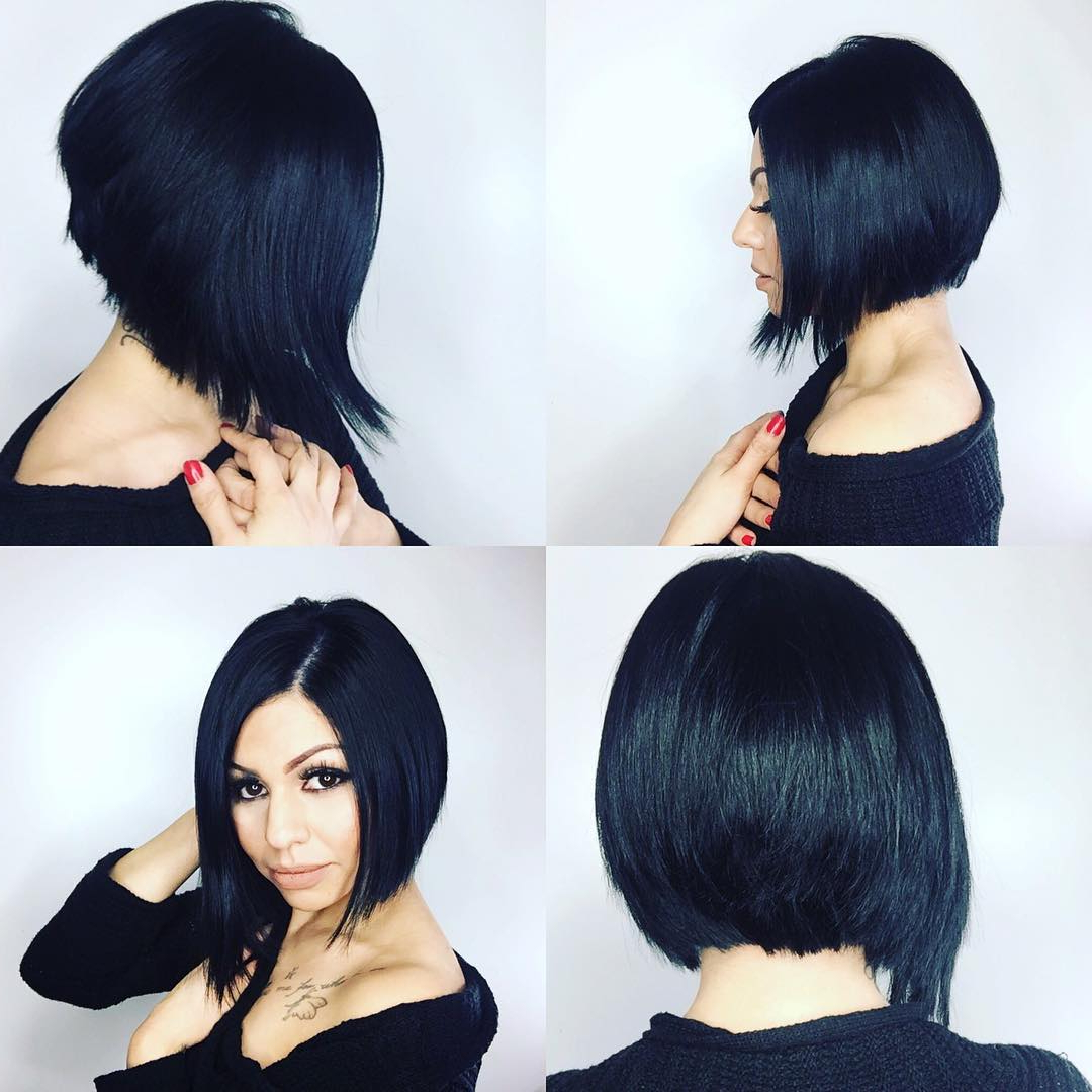 24+ Stacked Bob Haircut Ideas, Designs | Hairstyles | Design Trends With Regard To Stacked Bob Hairstyles With Bangs (View 1 of 20)