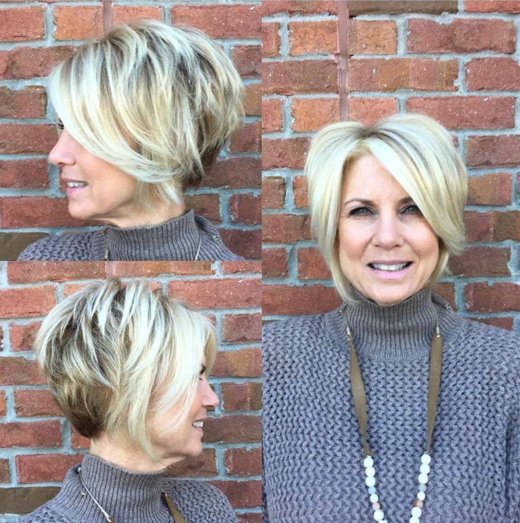 25 Simple And Short Hairstyles For Women Over 50 Pertaining To Short Layered Blonde Hairstyles (View 11 of 20)