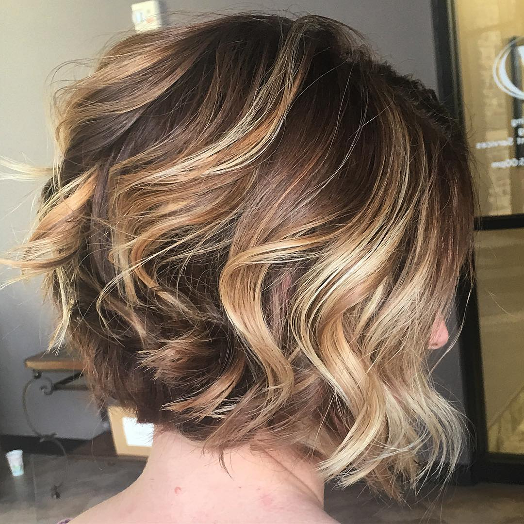 30 Best Balayage Hairstyles For Short Hair 2018 – Balayage Hair With Regard To Blonde Balayage Bob Hairstyles With Angled Layers (View 6 of 20)