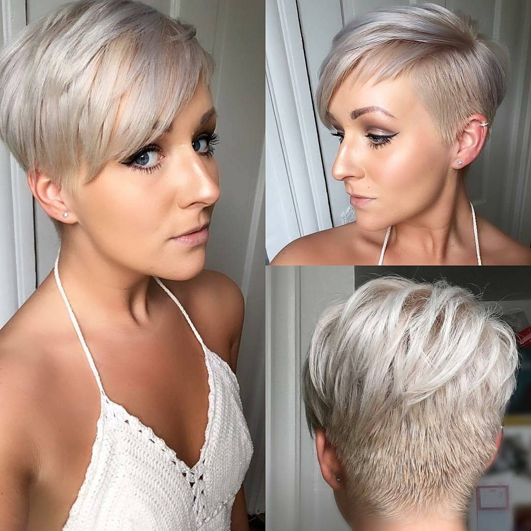 30 Chic Short Pixie Cuts For Fine Hair 2018 | Styles Weekly Intended For Silver Pixie Hairstyles For Fine Hair (View 4 of 20)