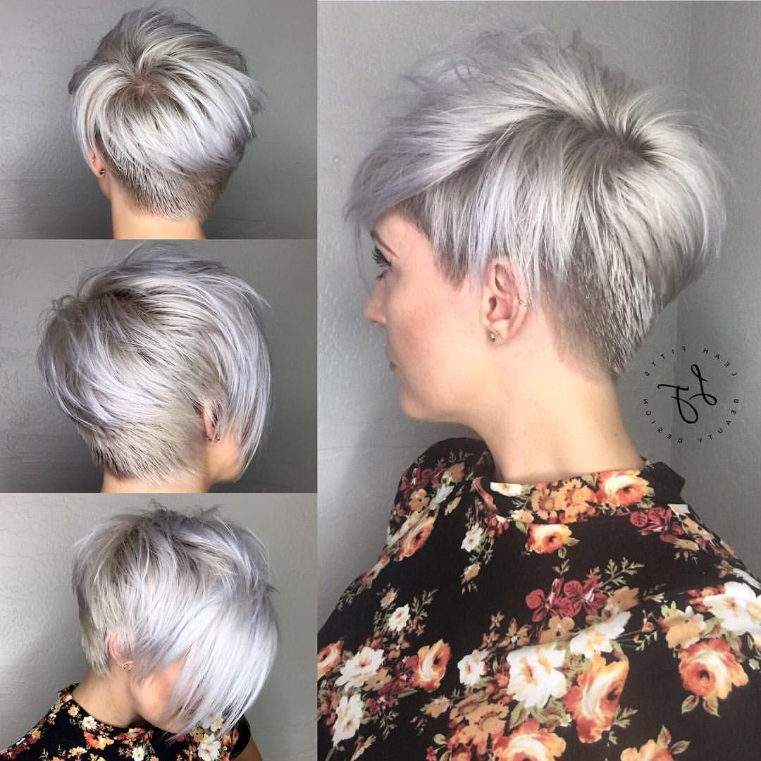 30 Chic Short Pixie Cuts For Fine Hair 2018 | Styles Weekly With Silver Pixie Hairstyles For Fine Hair (View 5 of 20)