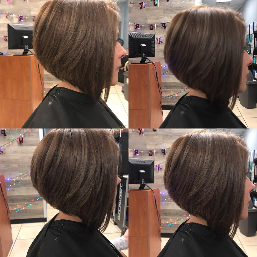 30 Super Hot Stacked Bob Haircuts: Short Hairstyles For Women 2018 Regarding Sassy And Stacked Hairstyles (View 3 of 20)