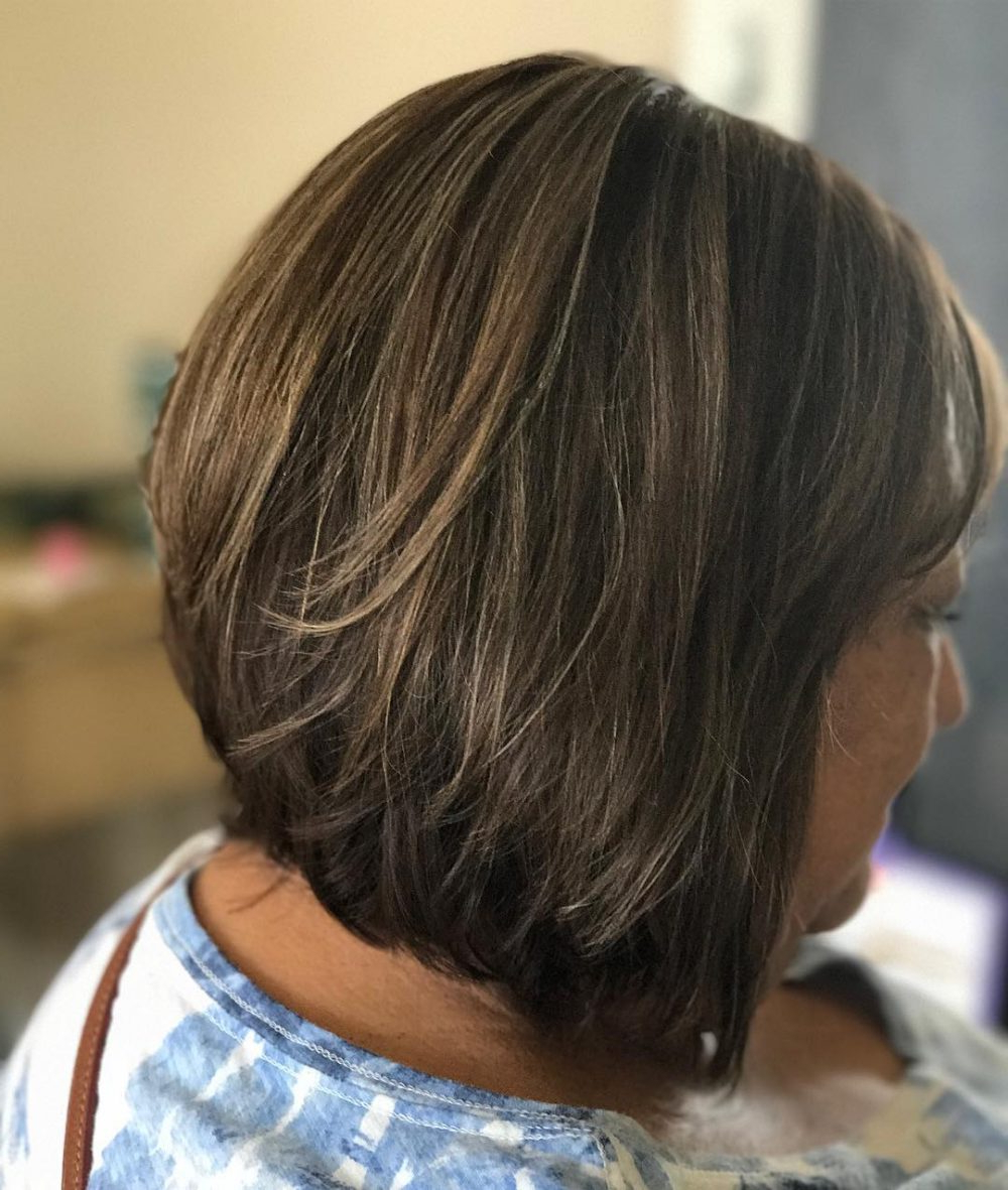 32 Flattering Short Haircuts For Older Women In 2018 In Airy Gray Pixie Hairstyles With Lots Of Layers (View 16 of 20)