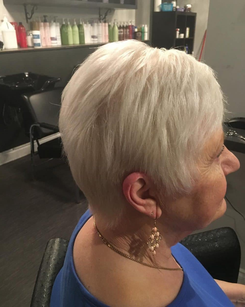 32 Flattering Short Haircuts For Older Women In 2018 With Pure Blonde Shorter Hairstyles For Older Women (View 6 of 20)