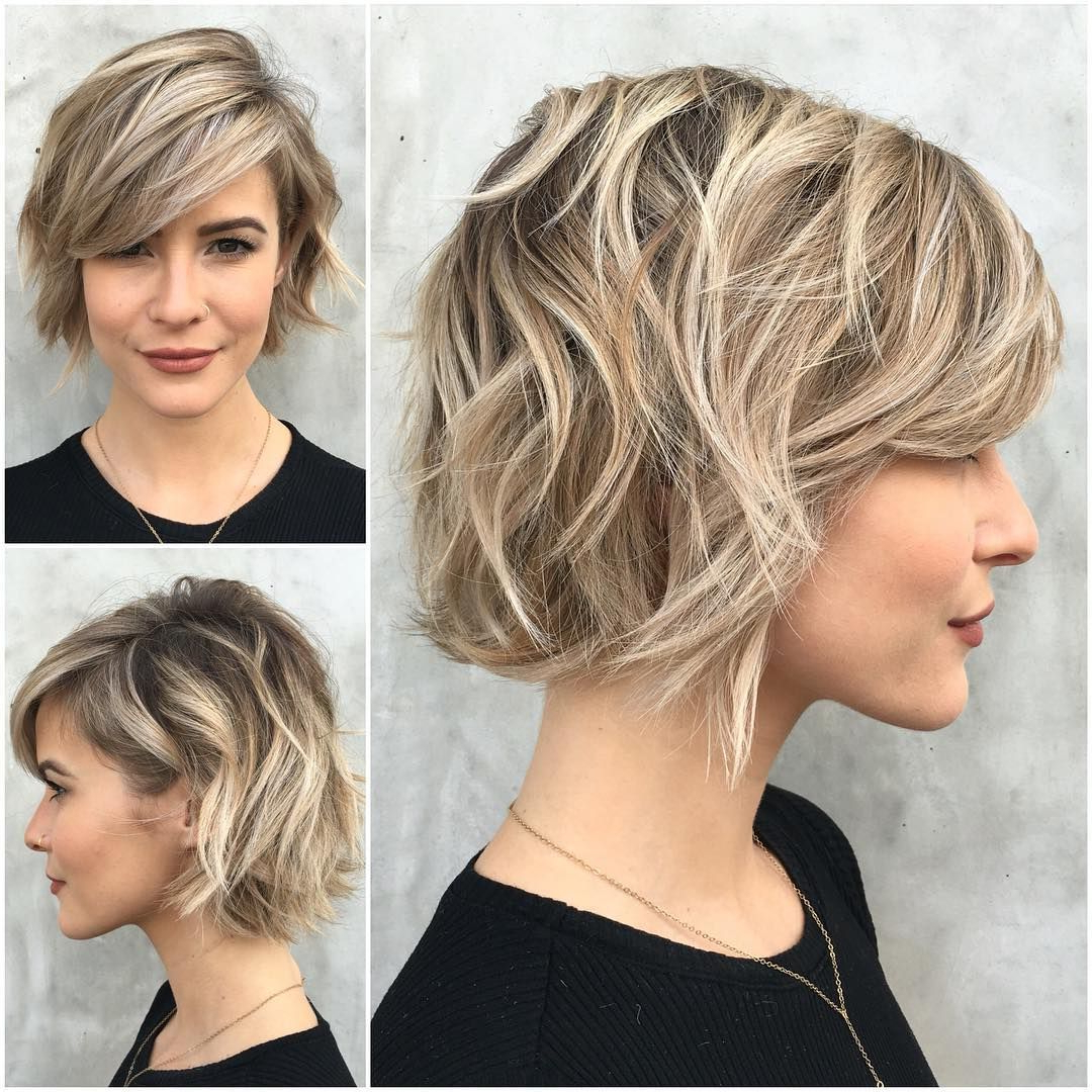 36 Stunning Hairstyles & Haircuts With Bangs For Short, Medium Long In Choppy Blonde Pixie Hairstyles With Long Side Bangs (View 6 of 20)