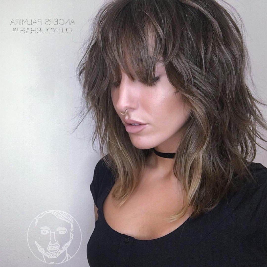 36 Stunning Hairstyles & Haircuts With Bangs For Short, Medium Long In One Length Balayage Bob Hairstyles With Bangs (View 7 of 20)
