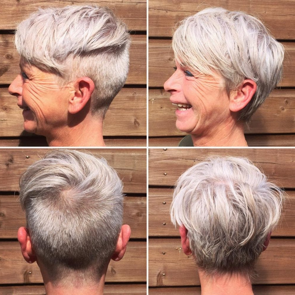 39 Youthful Short Hairstyles For Women Over 50 (With Fine & Thick Hair) With Voluminous Gray Pixie Haircuts (View 3 of 20)