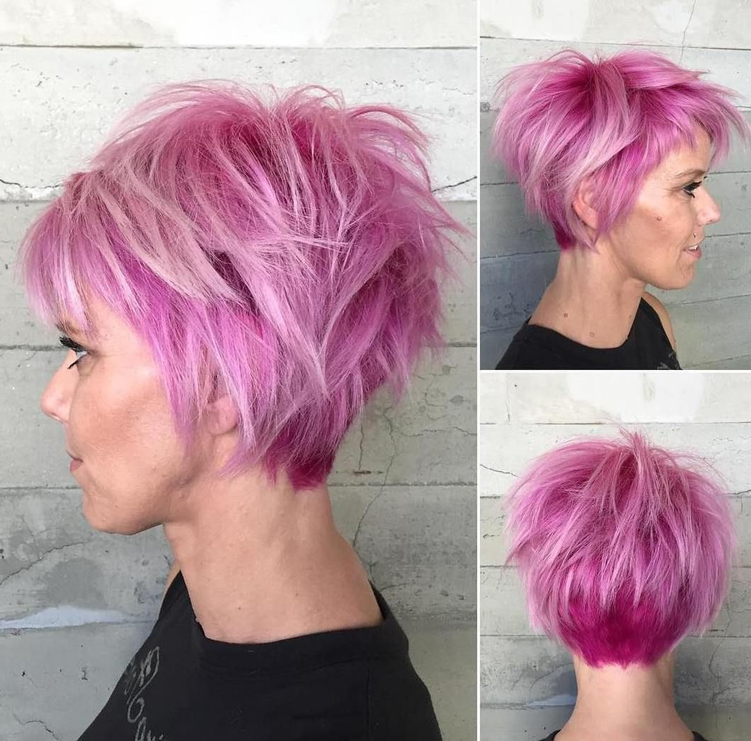 40 Best Edgy Haircuts Ideas To Upgrade Your Usual Styles | Pastel Throughout Short Messy Lilac Hairstyles (View 7 of 20)