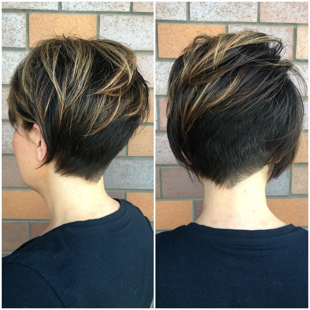 40 Best Short Hairstyles For Fine Hair 2019 Regarding Messy Pixie Hairstyles With Chunky Highlights (View 5 of 20)