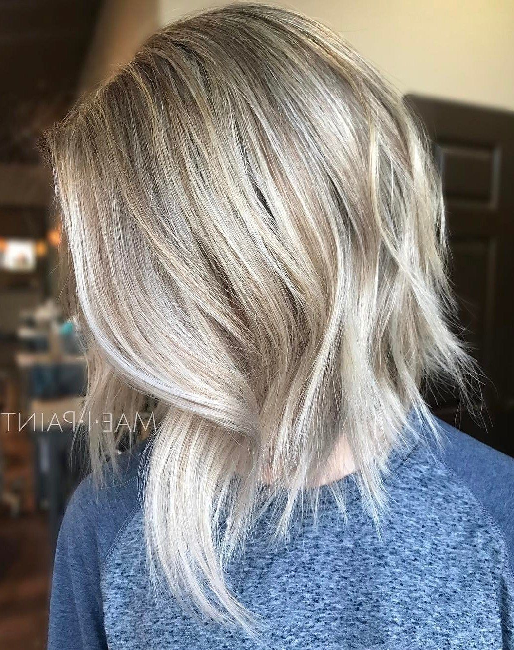 Featured Photo of Blonde Balayage Bob Hairstyles With Angled Layers