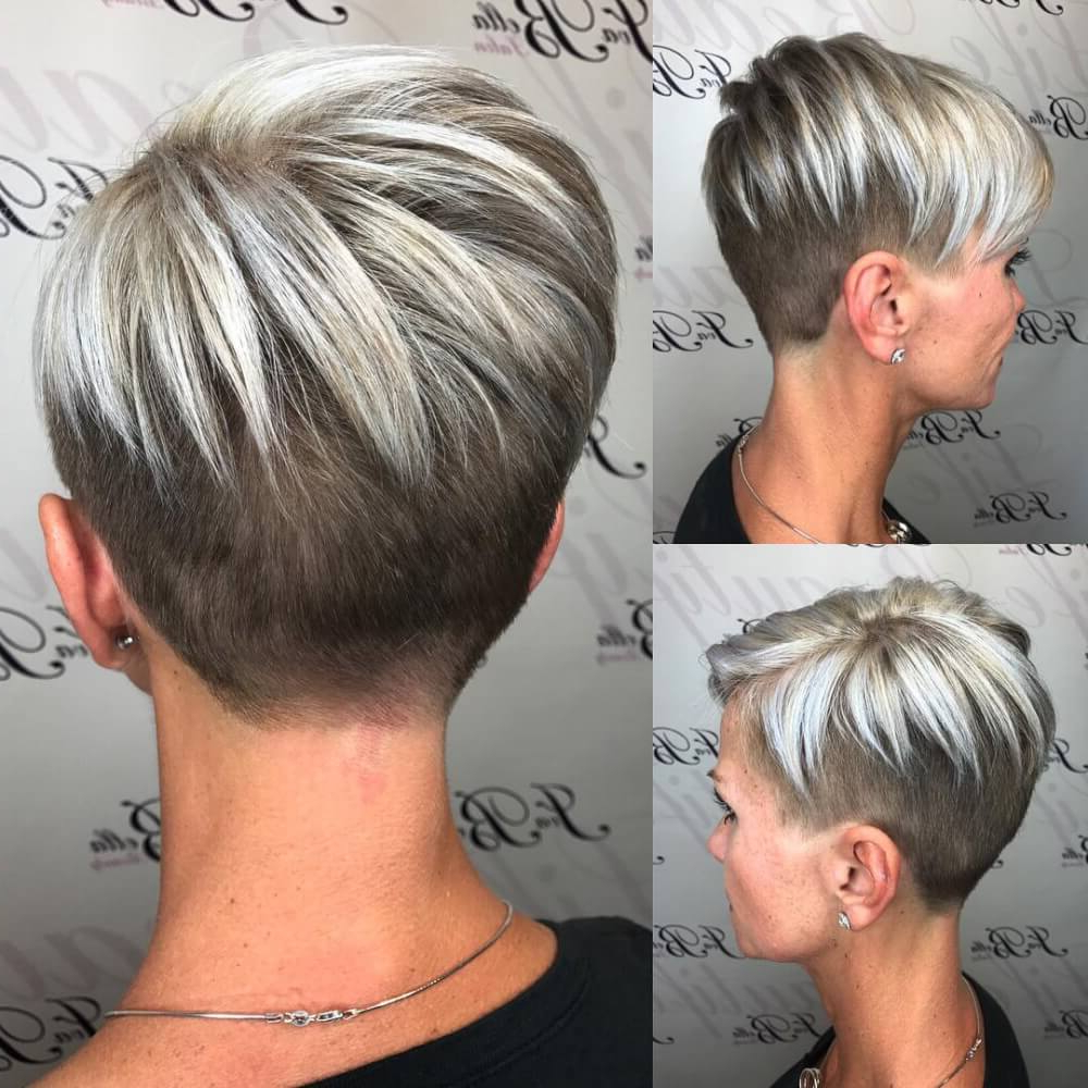40 Cute Short Haircuts For Short Hair (updated For 2018) Intended For Tapered Gray Pixie Hairstyles With Textured Crown (View 15 of 20)