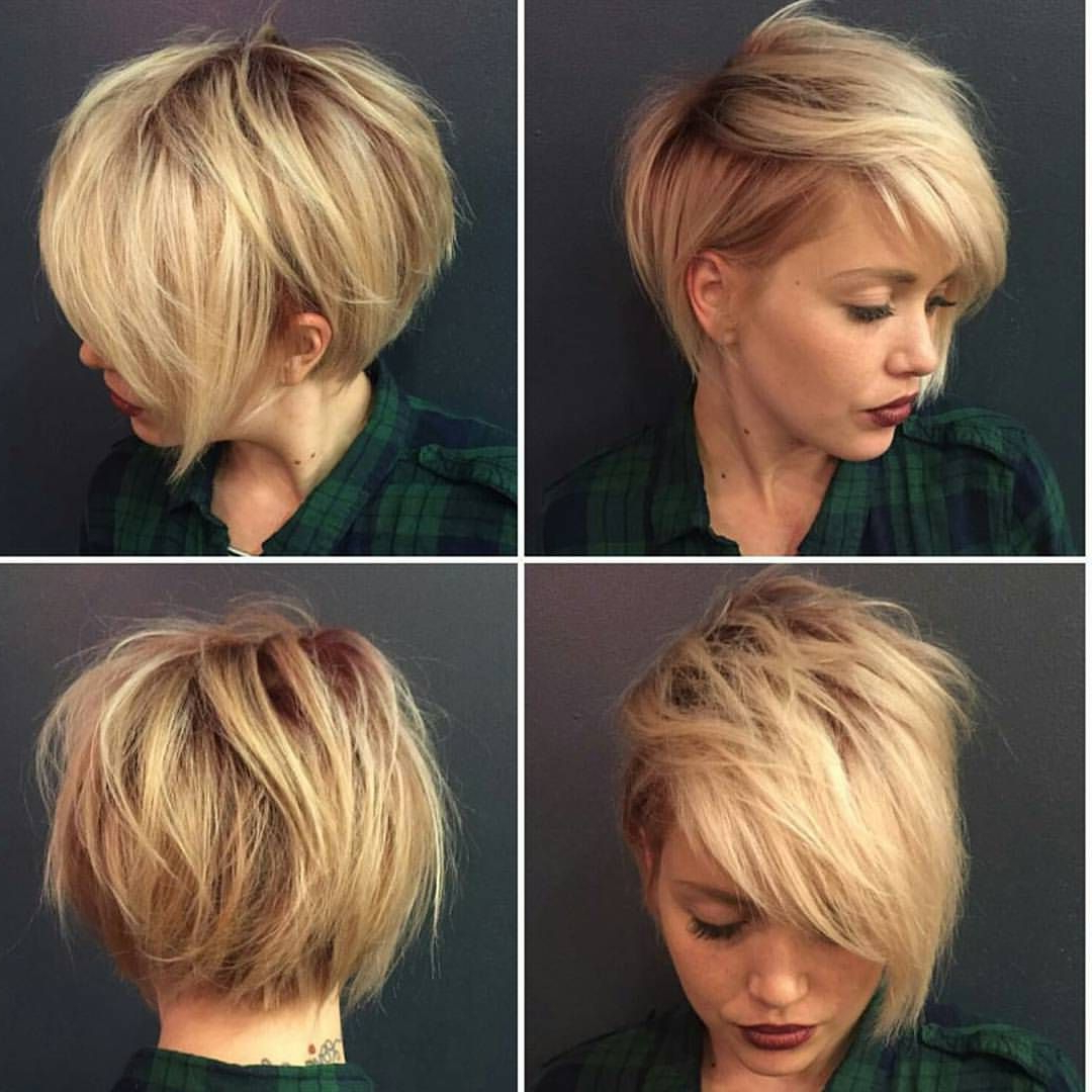 40 Hottest Short Hairstyles, Short Haircuts 2019 – Bobs, Pixie, Cool In Short Voluminous Feathered Hairstyles (View 8 of 20)