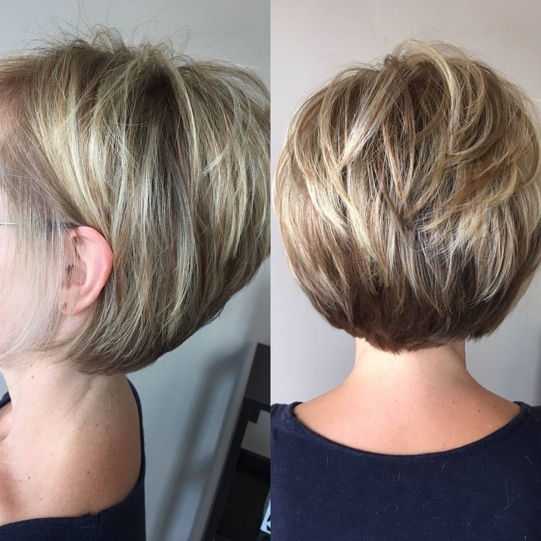40 Hottest Short Hairstyles, Short Haircuts 2019 – Bobs, Pixie, Cool Regarding Rounded Bob Hairstyles With Stacked Nape (View 15 of 20)