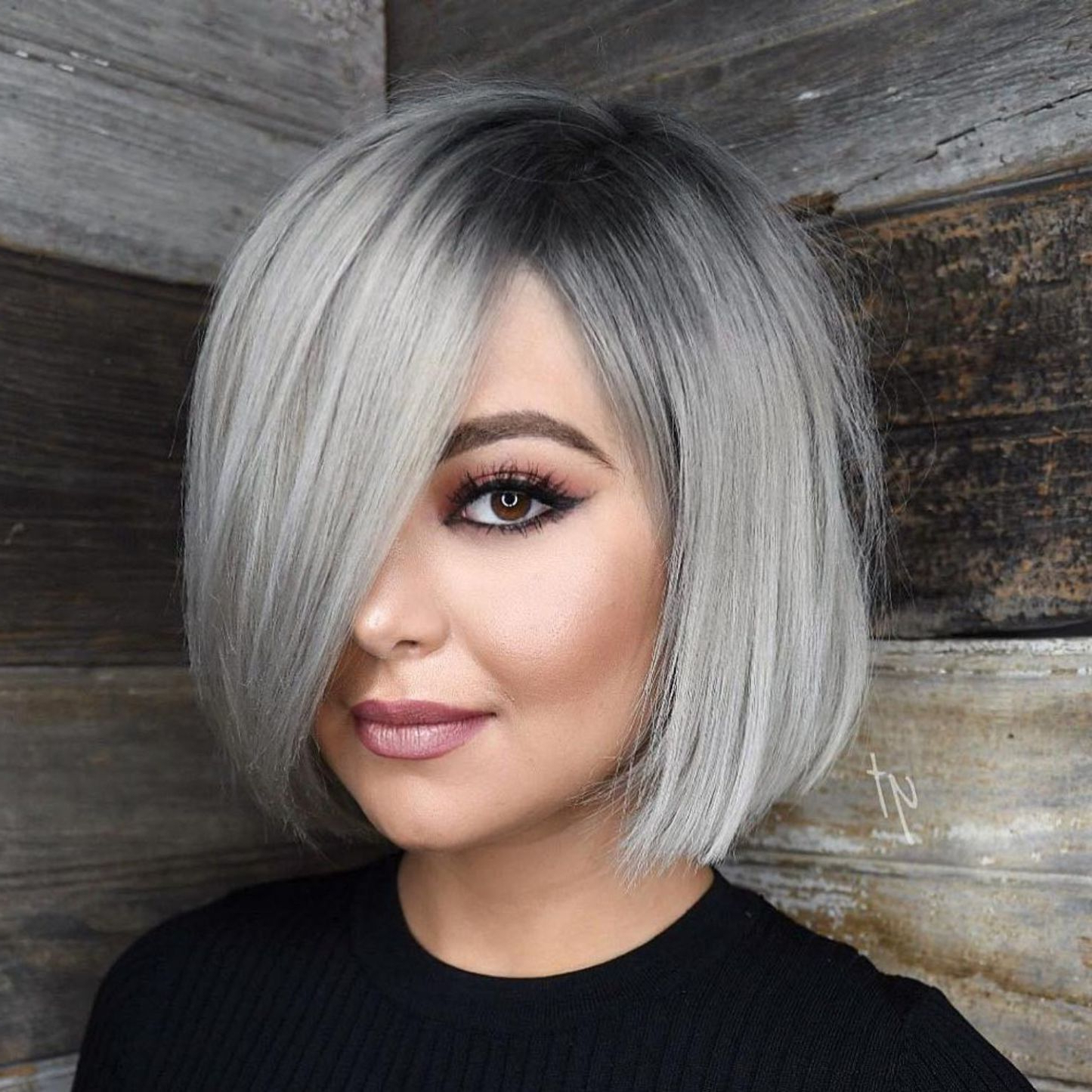 40 Stylish And Sassy Bobs For Round Faces In 2018 | My Hair Style Regarding Sleek Gray Bob Hairstyles (View 10 of 20)