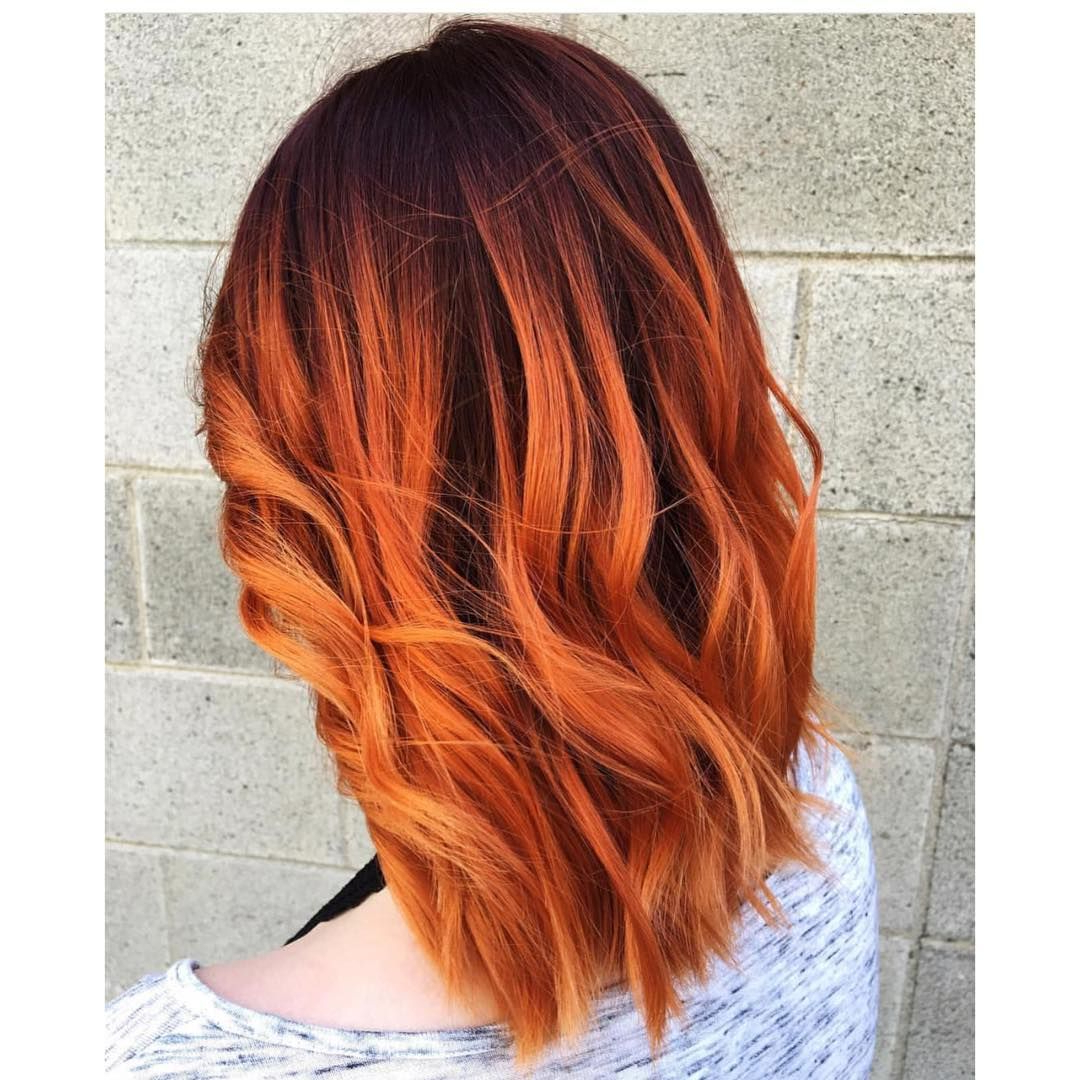 45 Copper Red Ginger Hair Color Ideas | Hair & Beauty | Pinterest In Burnt Orange Bob Hairstyles With Highlights (Gallery 3 of 20)