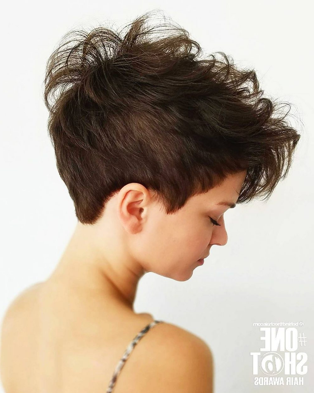 47 Popular Short Choppy Hairstyles For 2018 Within Choppy Pixie Hairstyles With Tapered Nape (Gallery 13 of 20)