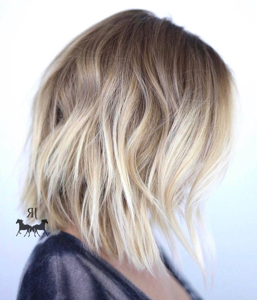50 Fresh Short Blonde Hair Ideas To Update Your Style In 2018 Regarding Blonde Balayage Bob Hairstyles With Angled Layers (View 8 of 20)