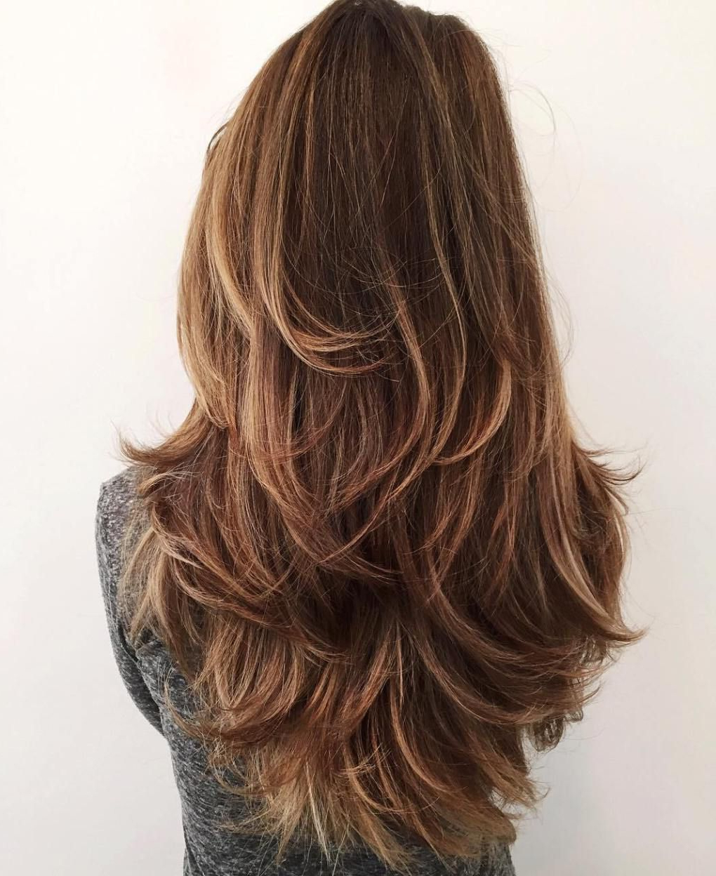50 Lovely Long Shag Haircuts For Effortless Stylish Looks In 2018 With Chic Chocolate Layers Hairstyles (Gallery 1 of 20)