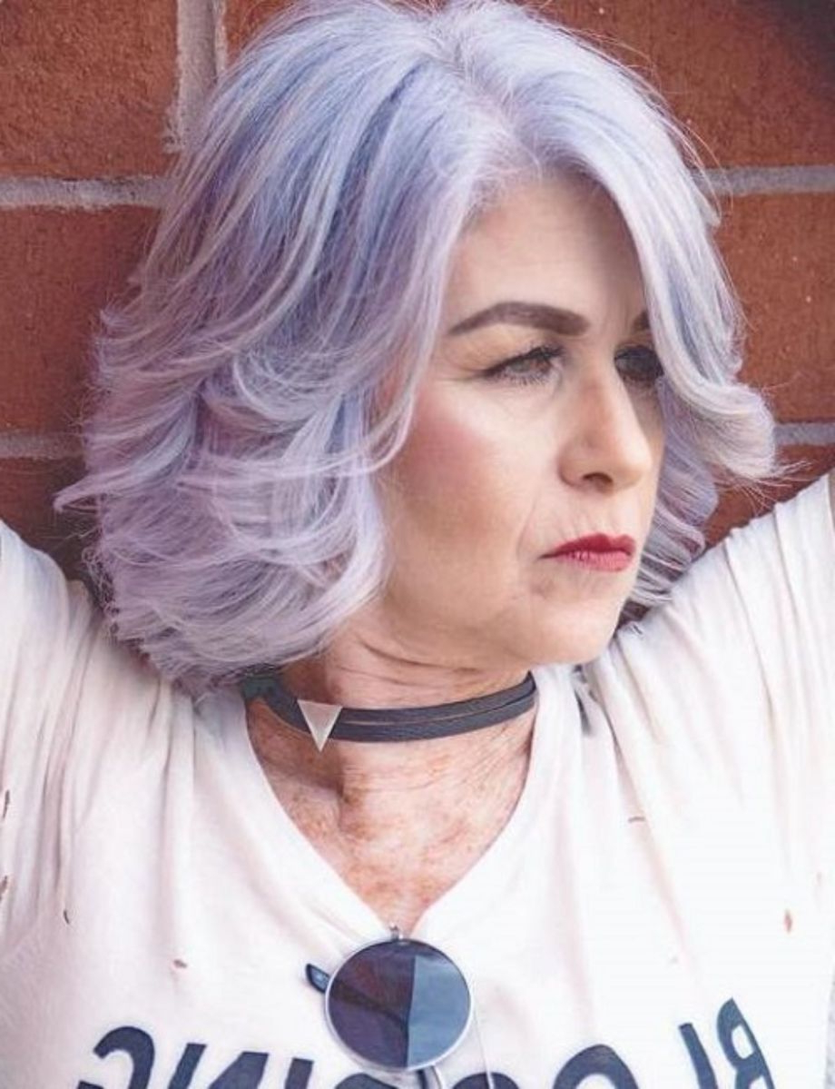 50 Modern Haircuts For Women Over 50 With Extra Zing In 2018 | Hair In Lavender Hairstyles For Women Over (View 2 of 20)