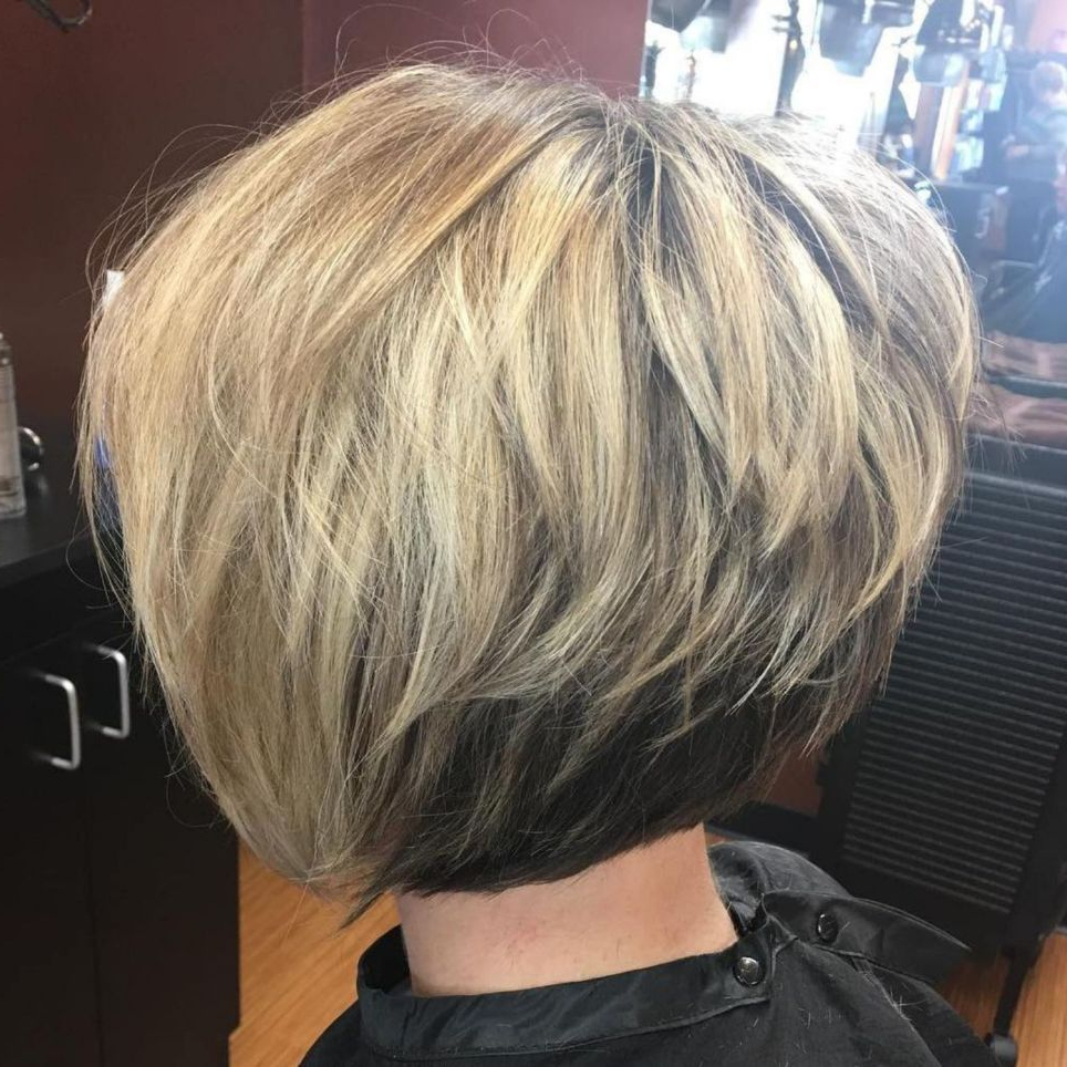 50 Trendy Inverted Bob Haircuts In 2018 | Favorite Hairstyles With Regard To Voluminous Two Tone Haircuts (View 7 of 20)