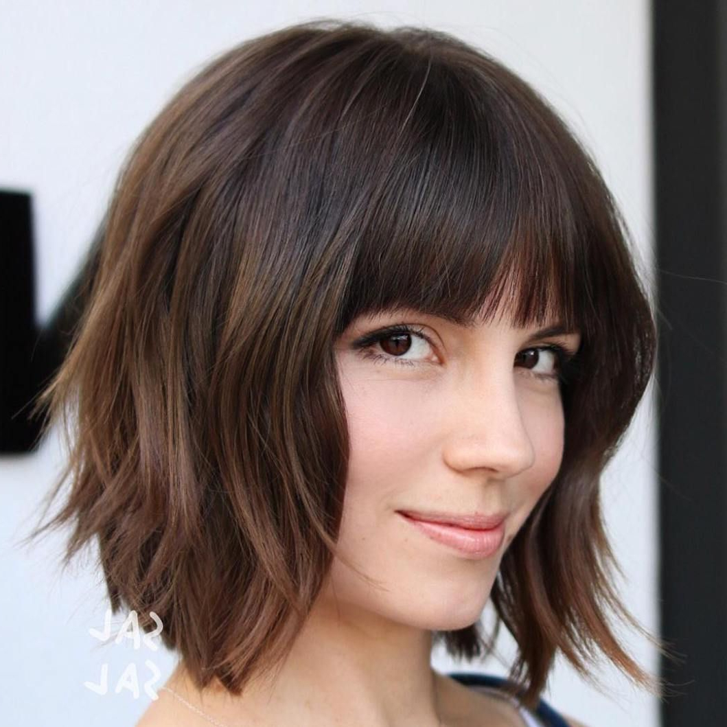 60 Beautiful And Convenient Medium Bob Hairstyles | Hair And Beauty In Straight Bob Hairstyles With Bangs (View 15 of 20)
