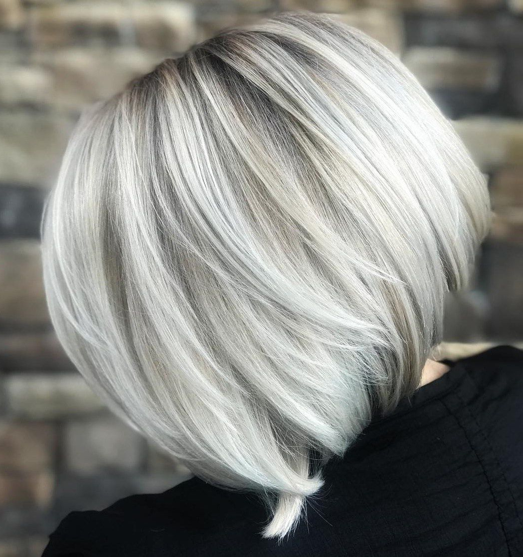 60 Beautiful And Convenient Medium Bob Hairstyles In 2018 | Hair For Regarding Wispy Silver Bob Hairstyles (View 13 of 20)