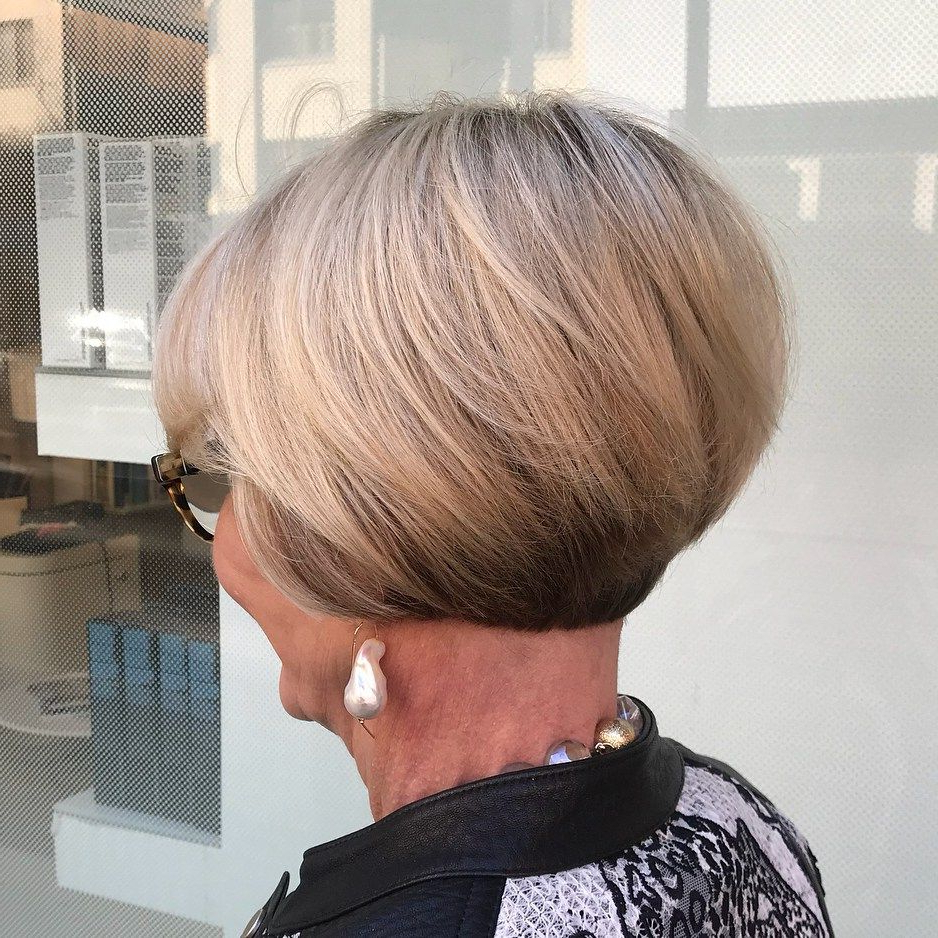 60 Best Hairstyles And Haircuts For Women Over 60 To Suit Any Taste In Rounded Bob Hairstyles With Stacked Nape (View 7 of 20)