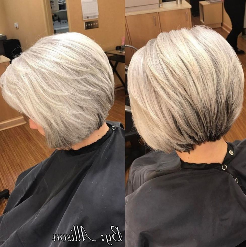 60 Best Hairstyles And Haircuts For Women Over 60 To Suit Any Taste Regarding Gray Bob Hairstyles With Delicate Layers (View 6 of 20)