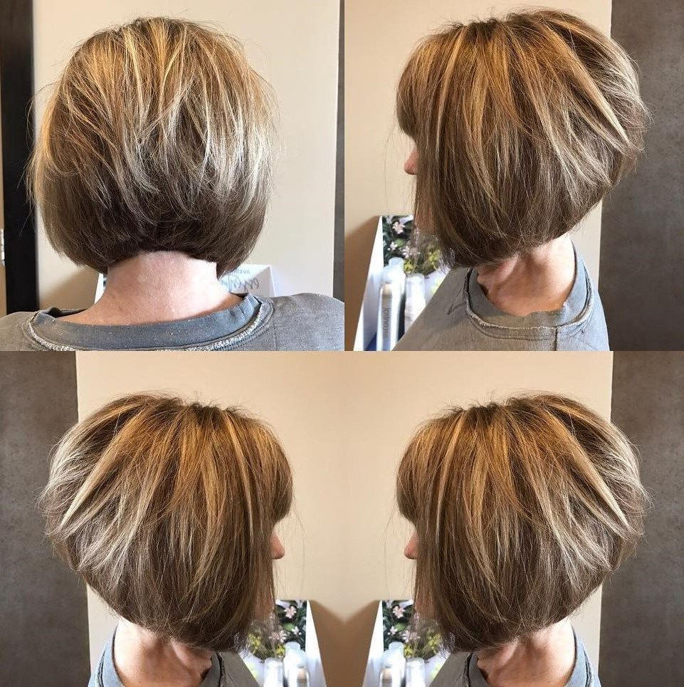 60 Best Hairstyles And Haircuts For Women Over 60 To Suit Any Taste Regarding Rounded Bob Hairstyles With Stacked Nape (View 8 of 20)