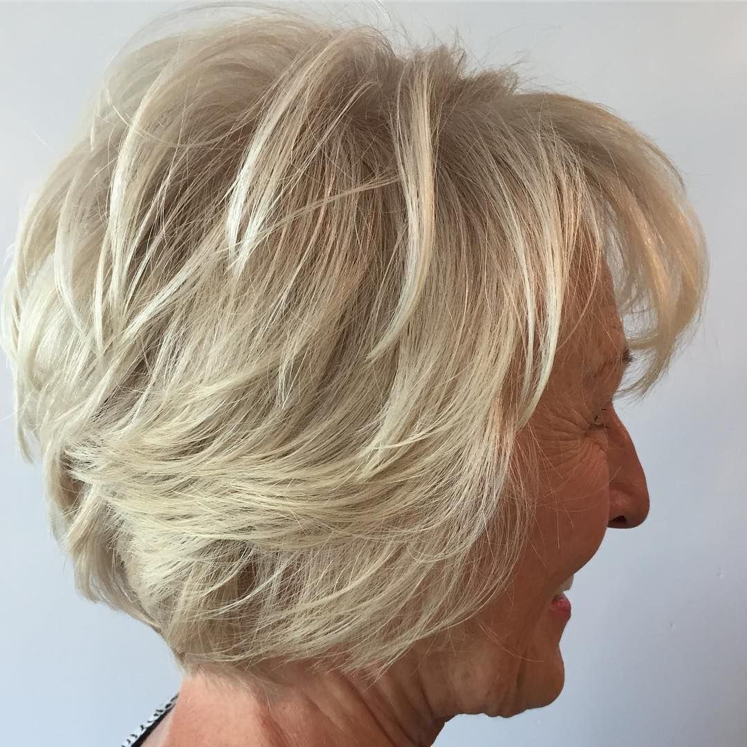 60 Best Hairstyles And Haircuts For Women Over 60 To Suit Any Taste With Pure Blonde Shorter Hairstyles For Older Women (View 7 of 20)