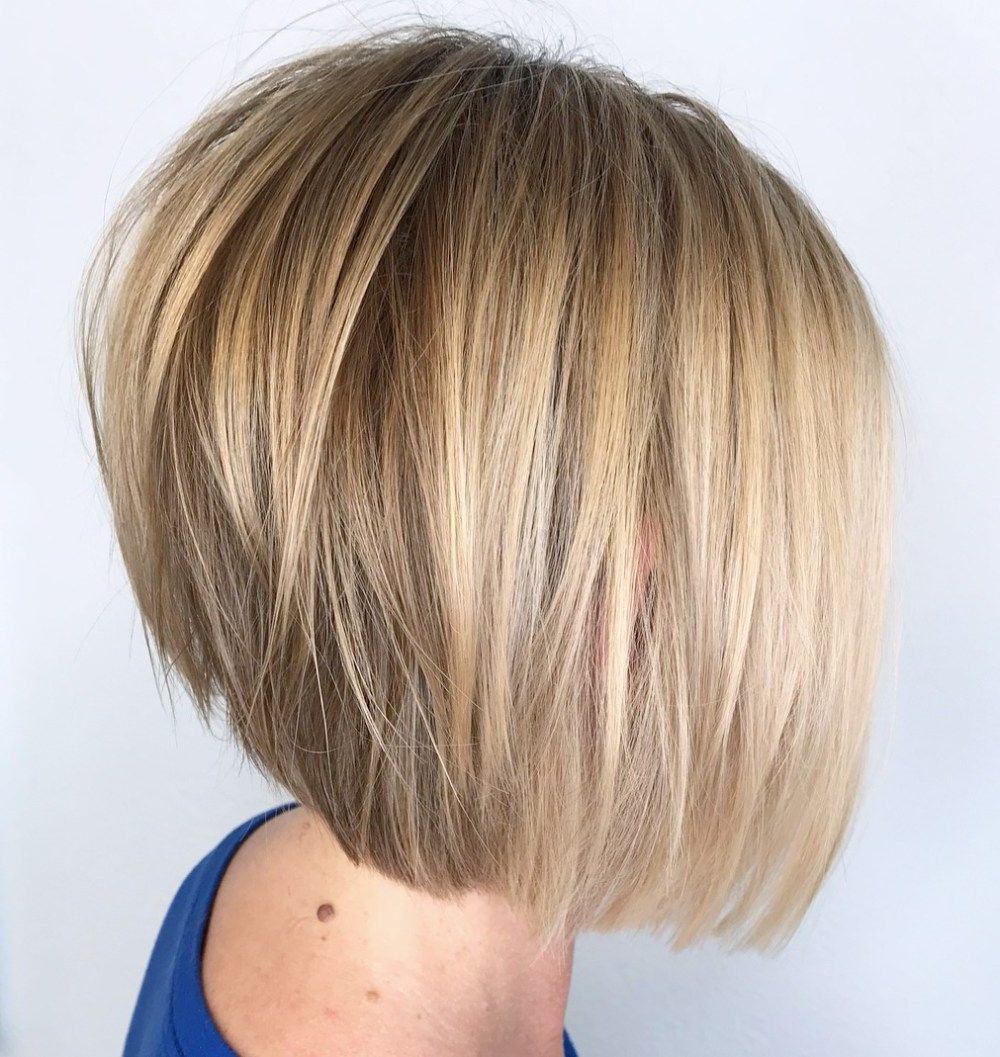 60 Best Short Bob Haircuts And Hairstyles For Women In 2018 | Hair For Honey Blonde Layered Bob Hairstyles With Short Back (View 11 of 20)