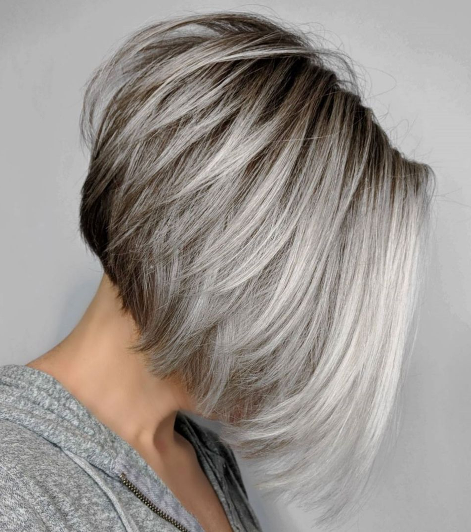 60 Best Short Bob Haircuts And Hairstyles For Women In 2018 Inside Gray Bob Hairstyles With Delicate Layers (View 8 of 20)