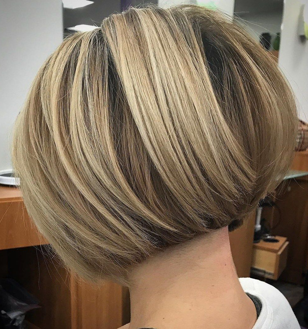 60 Classy Short Haircuts And Hairstyles For Thick Hair | Bobs In Rounded Bob Hairstyles With Stacked Nape (View 4 of 20)