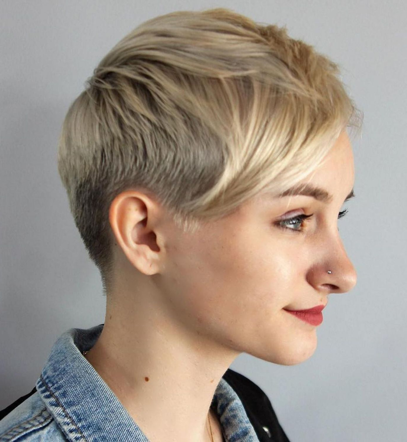 60 Cute Short Pixie Haircuts – Femininity And Practicality | Hair With Tapered Gray Pixie Hairstyles With Textured Crown (View 5 of 20)