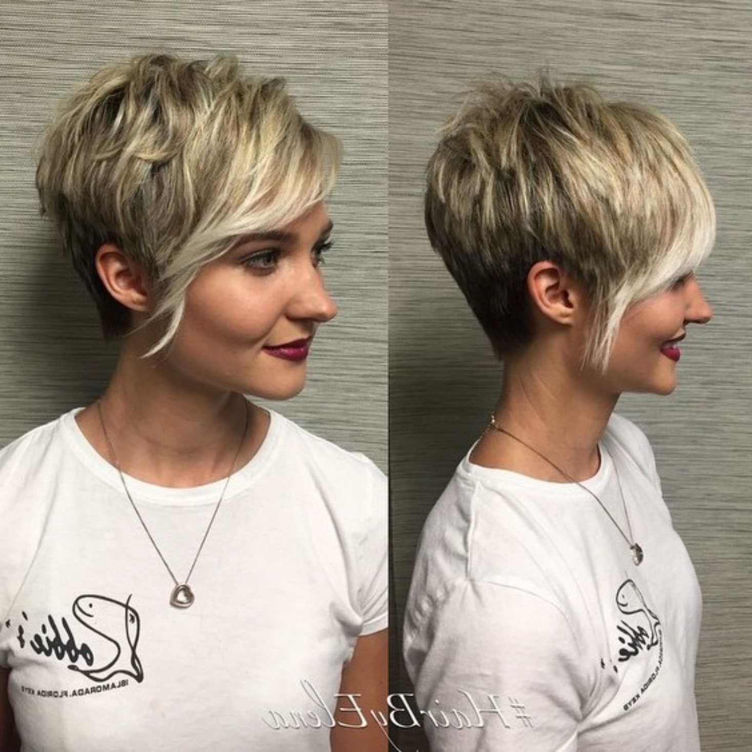 60 Cute Short Pixie Haircuts – Femininity And Practicality In 2018 Within Choppy Blonde Pixie Hairstyles With Long Side Bangs (View 2 of 20)