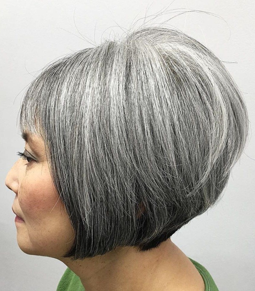 60 Gorgeous Gray Hair Styles | Стрижки (View 5 of 20)