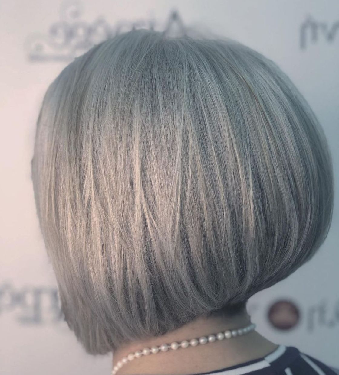 60 Gorgeous Gray Hair Styles In 2018 | Hair | Pinterest | Hair For Gray Bob Hairstyles With Delicate Layers (View 9 of 20)
