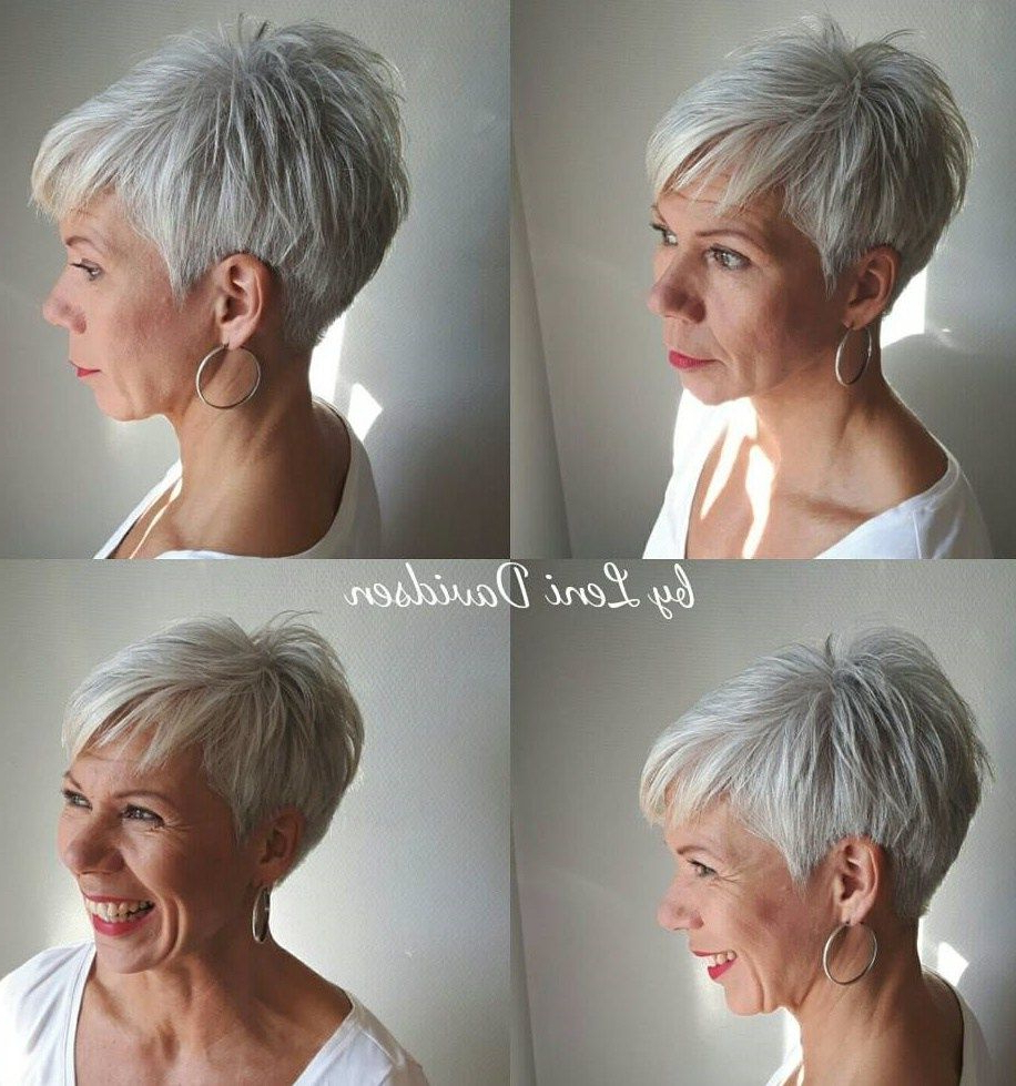 60 Gorgeous Gray Hair Styles In 2018 | Hair | Pinterest | Hair With Spiky Gray Pixie Haircuts (View 10 of 20)