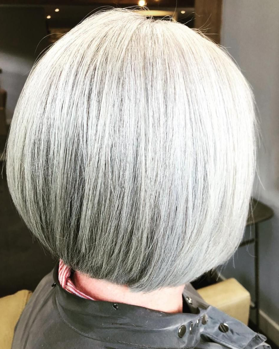 60 Gorgeous Gray Hair Styles In 2018 | Hair Styles | Pinterest With Sleek Gray Bob Hairstyles (View 13 of 20)