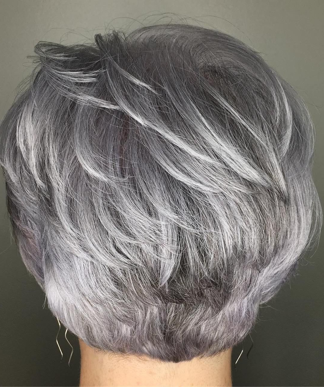 60 Gorgeous Gray Hair Styles In 2018 | Hairstyles | Pinterest | Hair Inside Airy Gray Pixie Hairstyles With Lots Of Layers (View 12 of 20)