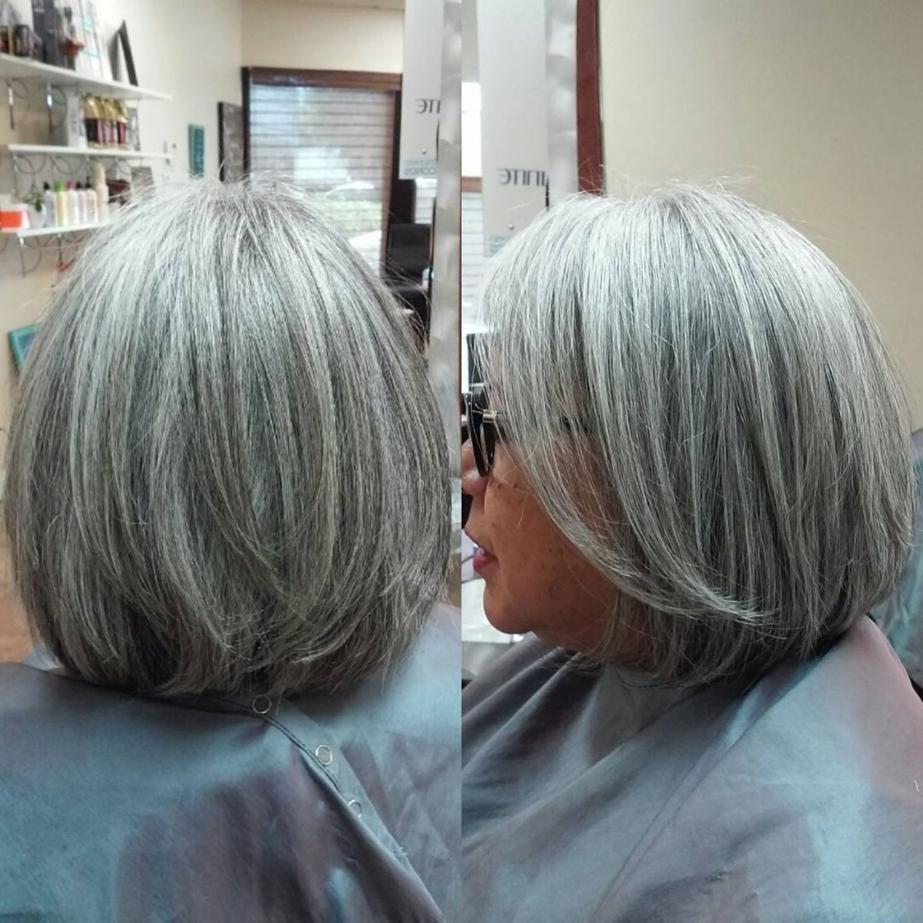 60 Gorgeous Gray Hair Styles In 2018 | Hairstyles | Pinterest | Hair Within Wispy Silver Bob Hairstyles (View 8 of 20)