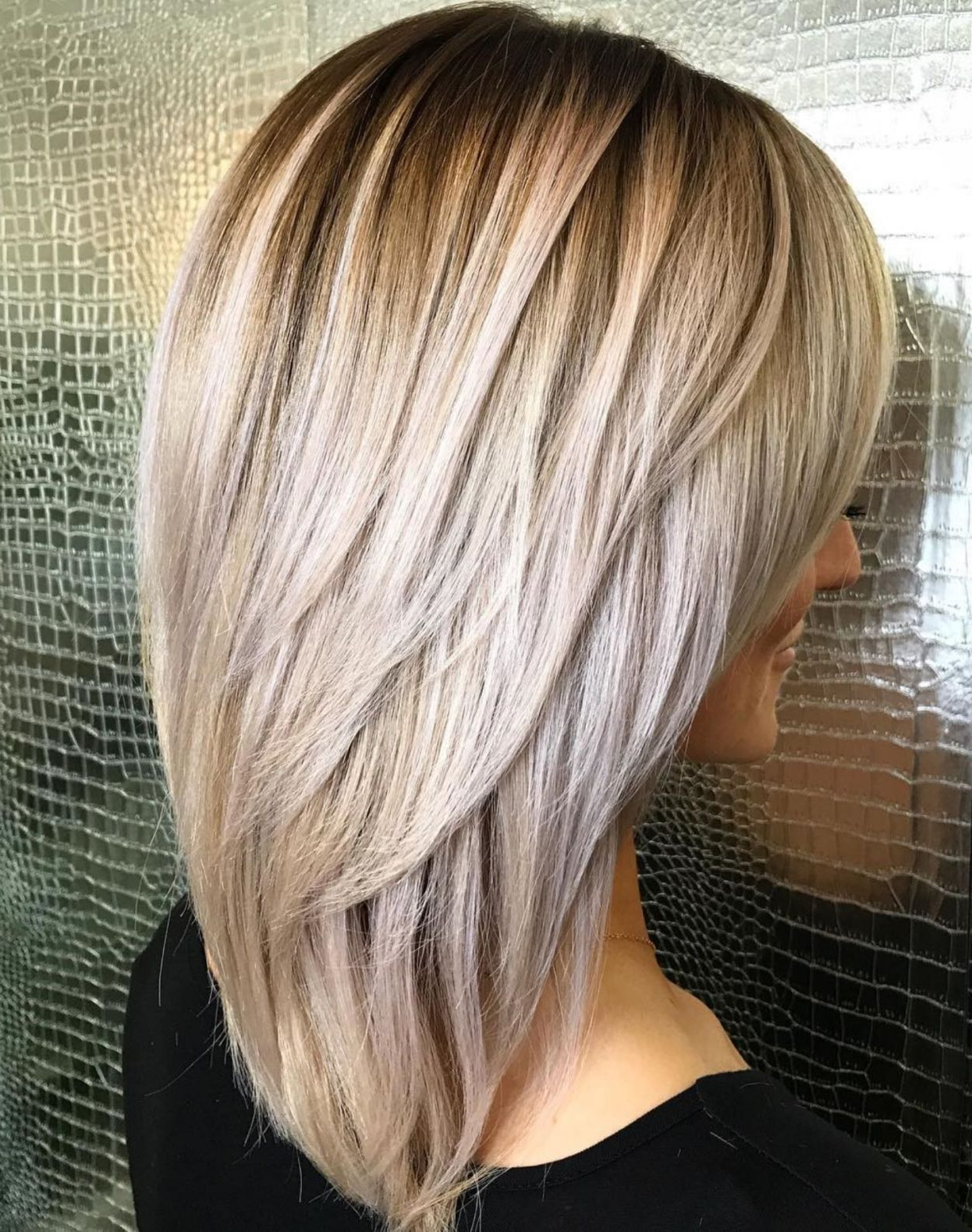60 Most Beneficial Haircuts For Thick Hair Of Any Length In 2018 For Short Bob Hairstyles With Long V Cut Layers (View 2 of 20)