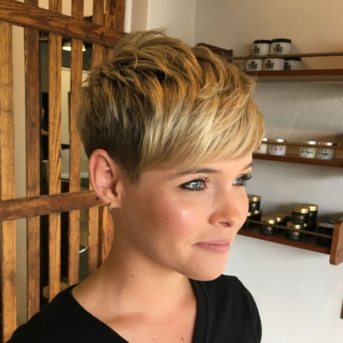 60 Short Shag Hairstyles That You Simply Can't Miss In 2018 Inside Tapered Gray Pixie Hairstyles With Textured Crown (View 12 of 20)