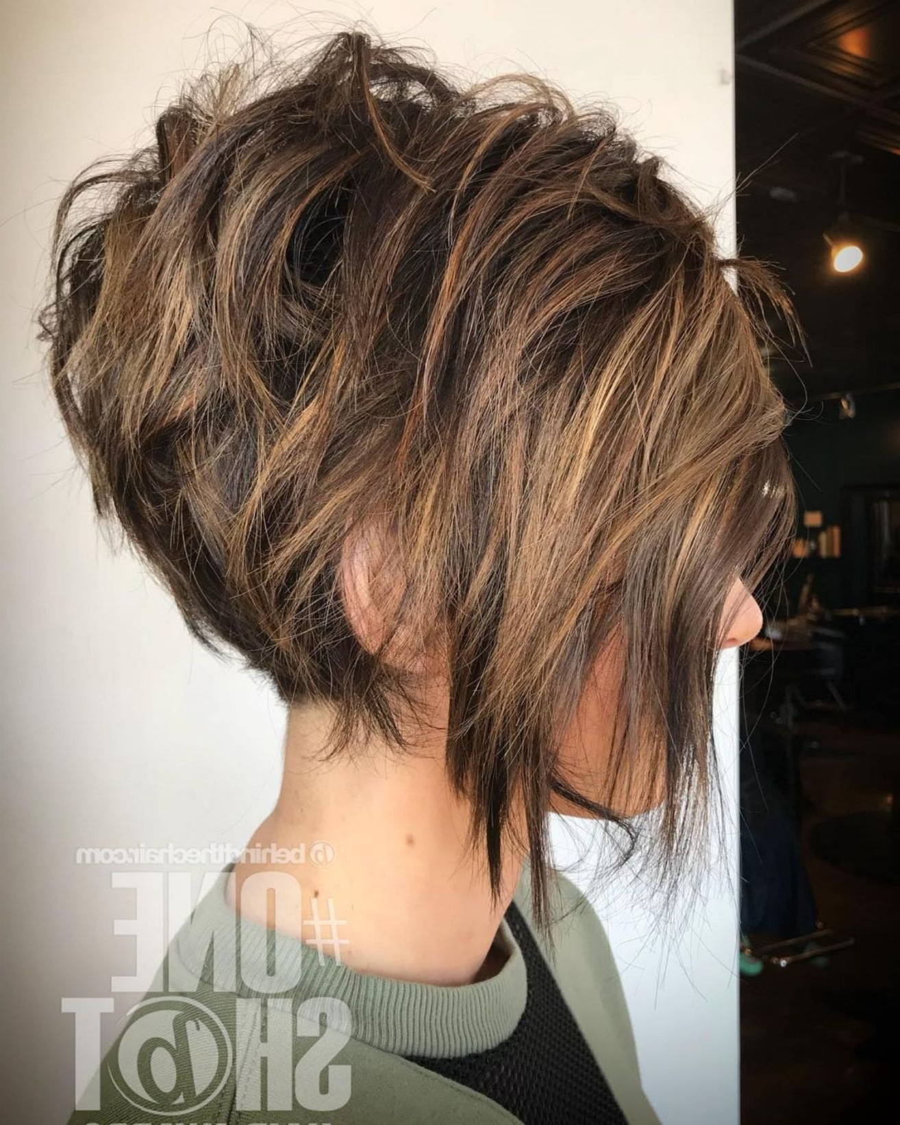 60 Short Shag Hairstyles That You Simply Can't Miss In 2018 | My Inside Messy Pixie Hairstyles With Chunky Highlights (View 11 of 20)
