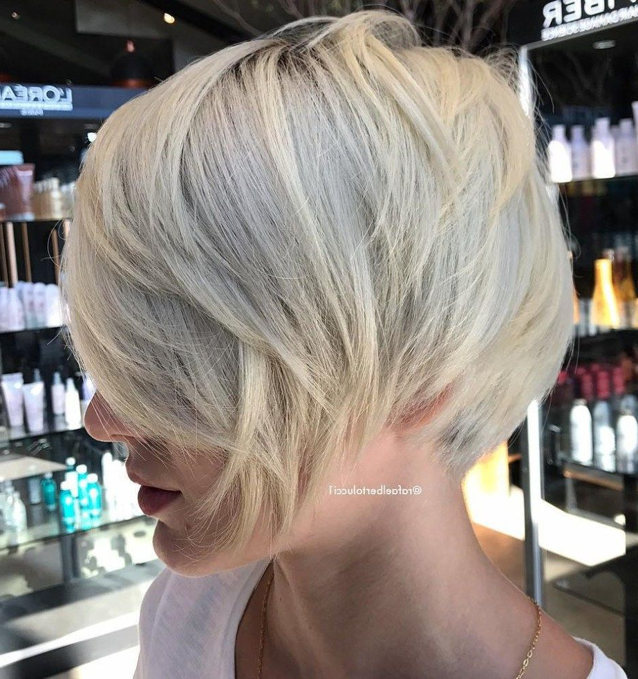 70 Cute And Easy To Style Short Layered Hairstyles | Blonde Inside Short Layered Blonde Hairstyles (View 4 of 20)