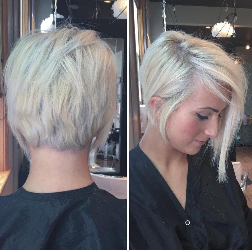 70 Devastatingly Cool Haircuts For Thin Hair | Short Hair Regarding Asymmetrical Pixie Bob Hairstyles (View 8 of 20)