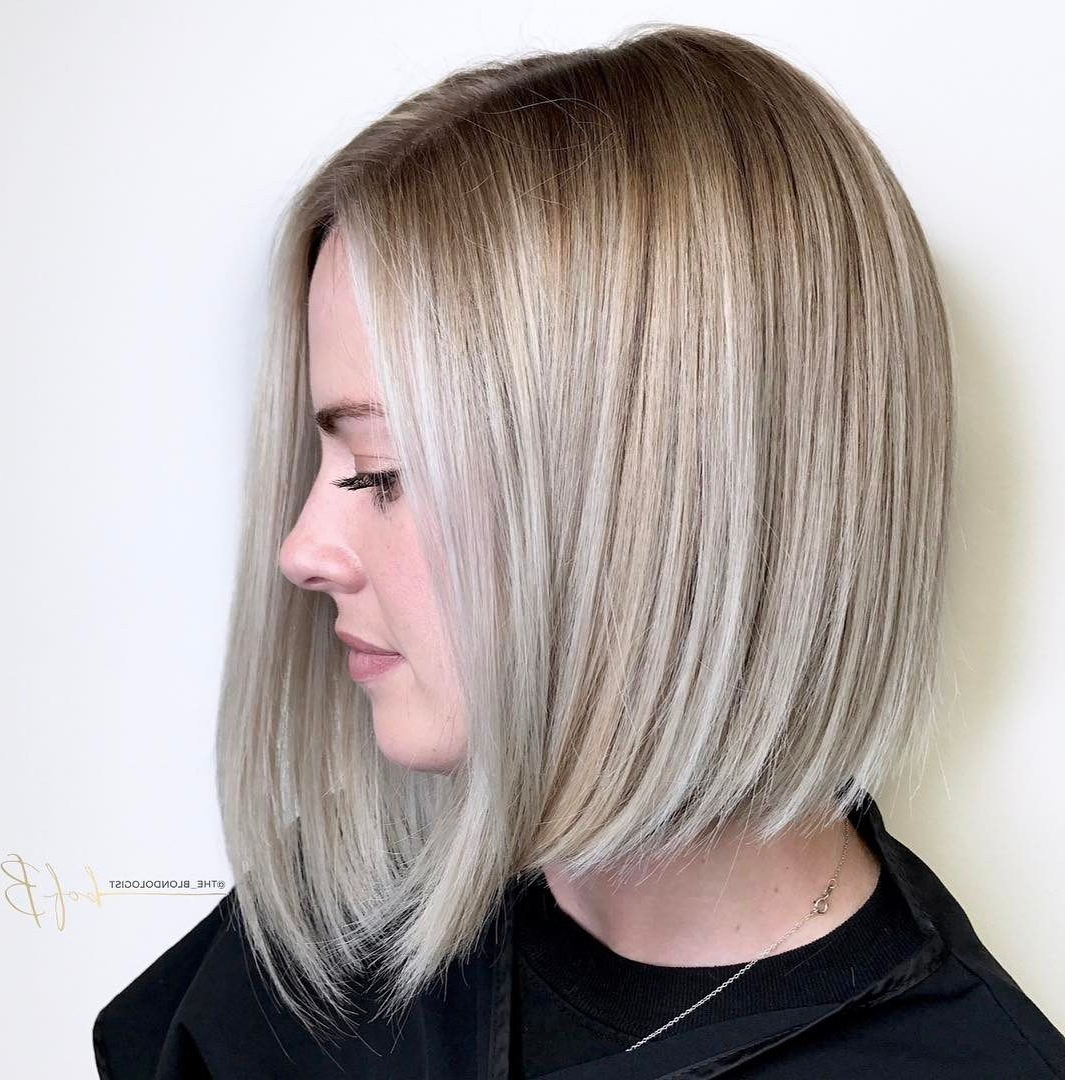 70 Winning Looks With Bob Haircuts For Fine Hair In 2018 Regarding Angled Ash Blonde Haircuts (Gallery 3 of 20)